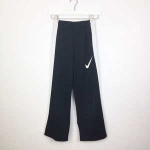 Nike Black Pants With White Side Stripes